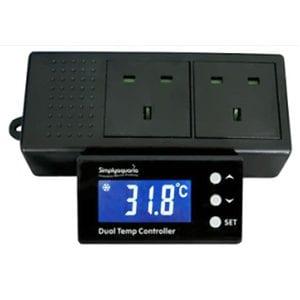 Simply Aquaria Dual Temperature Controller available at Marine Fish Shop