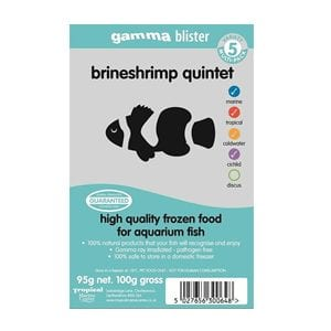 Gamma Brineshrimp Quintet Frozen Fish Food available at Marine Fish Shop