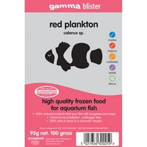 Gamma Red Plankton Frozen Fish Food available from Marine Fish Shop