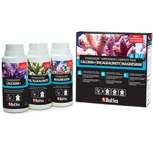 Red Sea Calcium+ | KH/Alkalinity | Magnesium Foundation Supplements Complete Pack