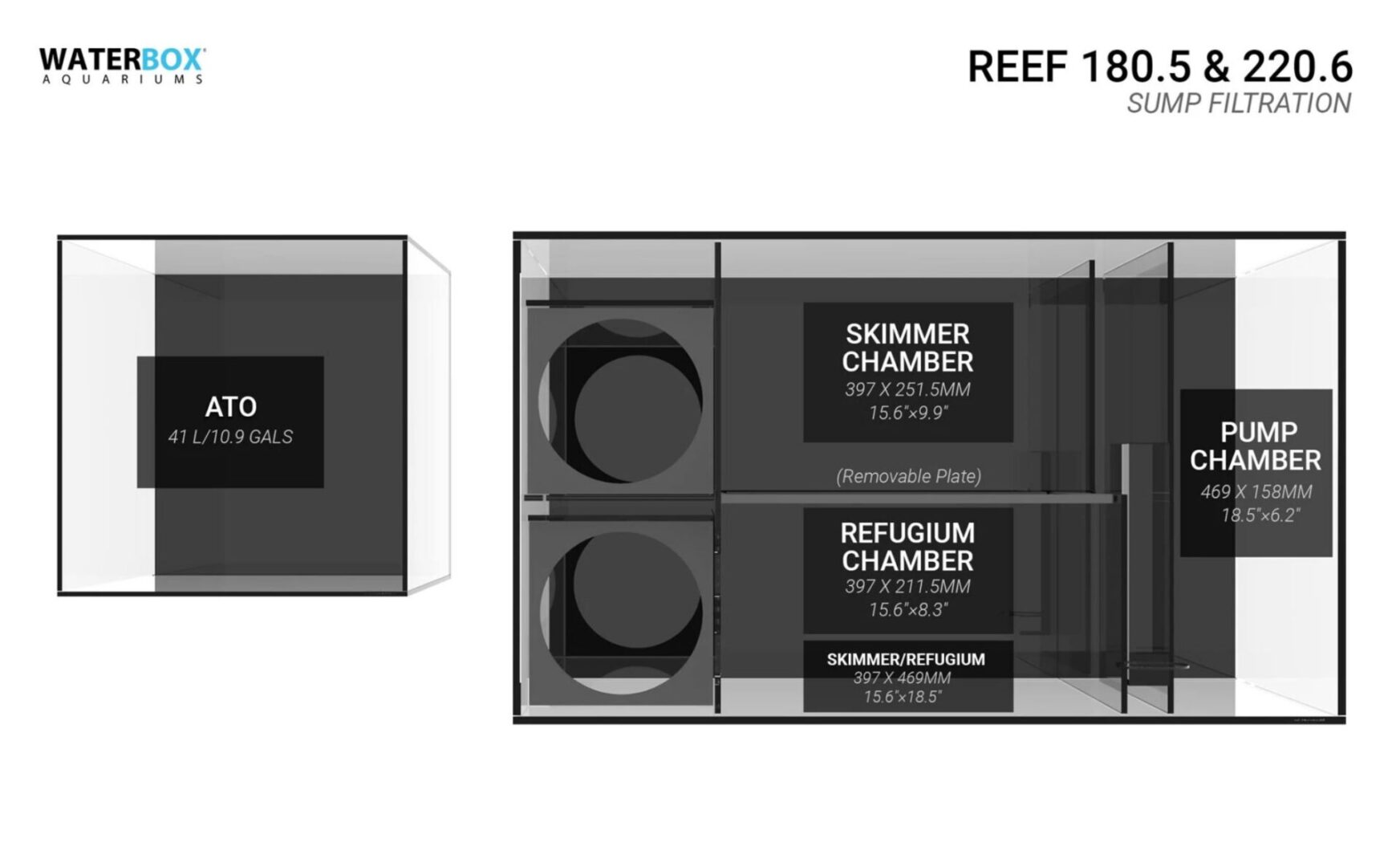 Waterbox Reef 180.5 – Black Aquarium Aquariums