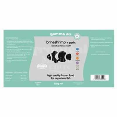 Gamma Slice Brineshrimp and Garlic Flat Pack 250g