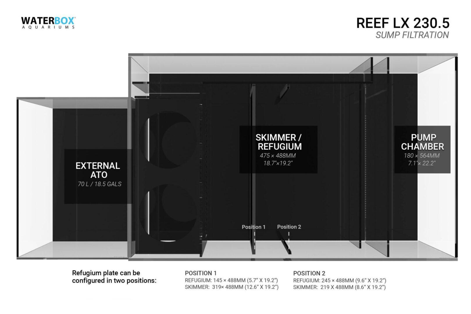 Waterbox Reef LX 230.5 – White Aquarium Aquariums