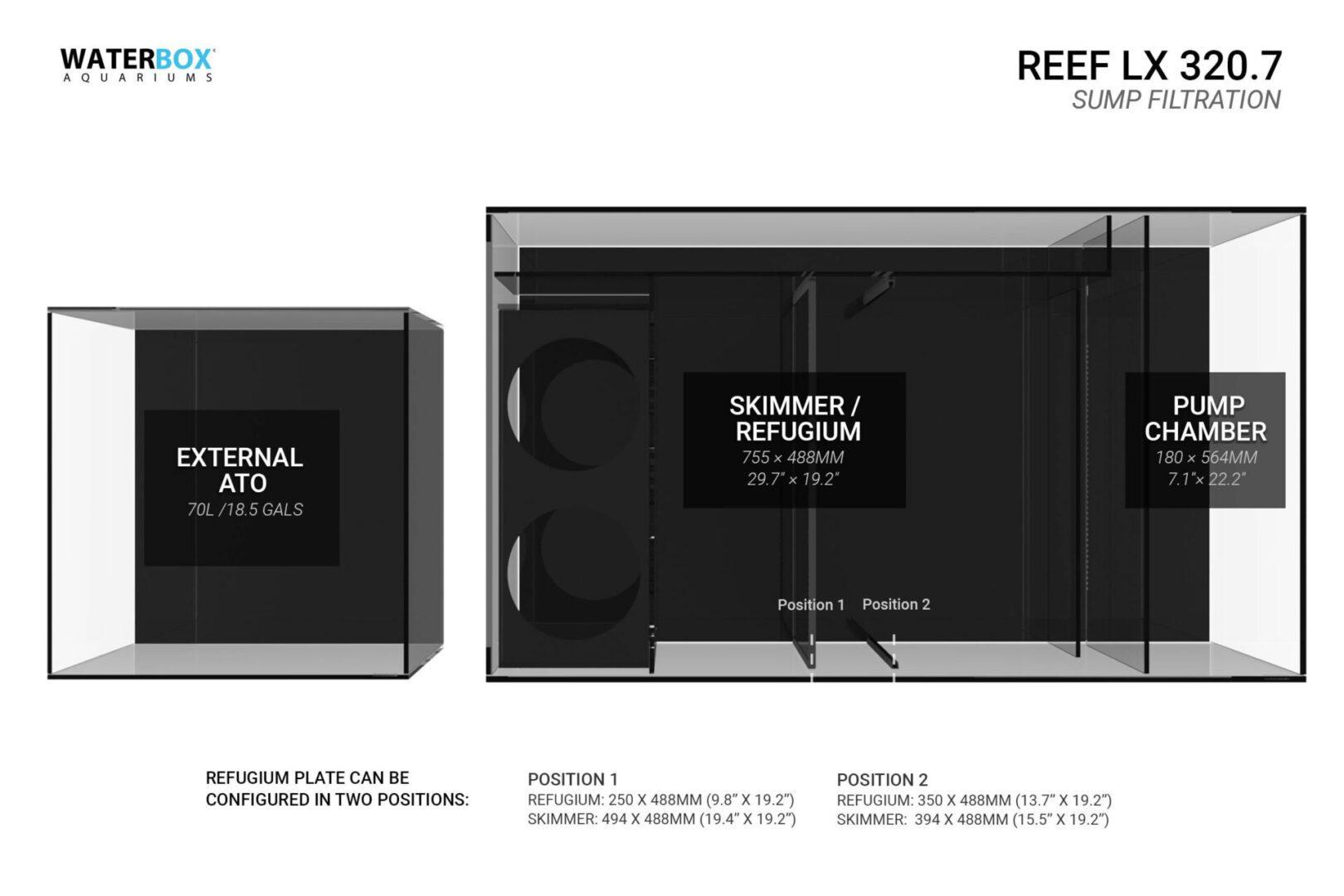 Waterbox Reef LX 320.7 – Black Aquarium Aquariums