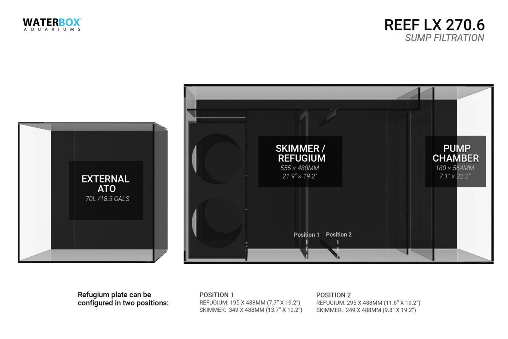 Waterbox Reef LX 270.6 – Black Aquarium Aquariums