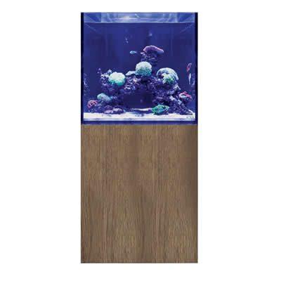 D-D Aqua-Pro Reef Cube 600 – Tobacco Oak Aquarium